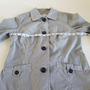 ⚓ Charter club jacket. Blue pin strips size